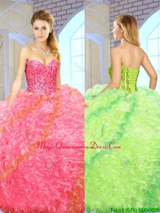 Exquisite Beading Sweetheart Quinceanera Gowns with Floor Length for 2016