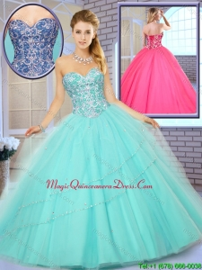 Classic Floor Length Quinceanera Gowns with Beading