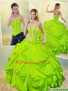 Classical Ball Gown Sweet 16 Dresses with Beading for 2016