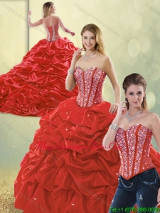 Luxurious Beading and Ruffles Detachable Quinceanera Dresses in Multi Color