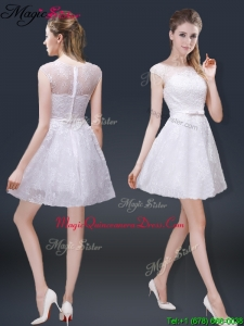 2016 Lovely Cap Sleeves Dama Dresses with with in Lace