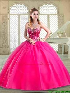 2016 Perfect Sweetheart Beading Quinceanera Dresses