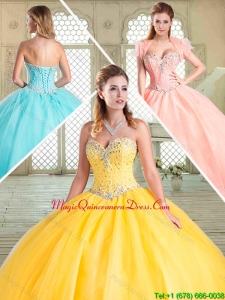Popular Sweetheart Beading Quinceanera Dresses for Summer