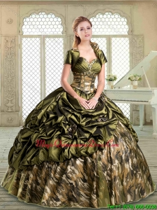 Magic Miss Multi Color Camo Quinceanera with Pick Ups for Winter