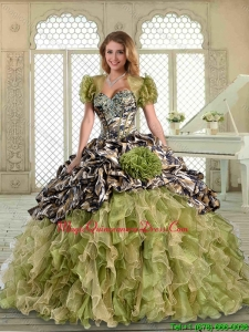 Magic Miss Ruffles Camo Quinceanera with Pick Ups