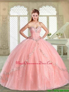 Magic Miss Sweetheart Beading Quinceanera in Watermelon