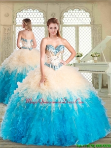 Magic Miss Sweetheart Quinceanera with Beading and Ruffles