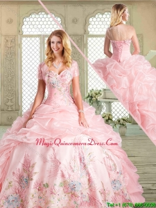 Magic MissPretty Floor Length Quinceanera with Appliques and Pick Ups