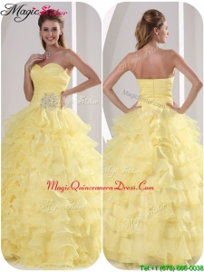 2016 Exclusive Ball Gown Quinceaners Dresses with Appliques