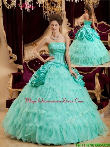 2016 Selling Ball Gown Floor Length Ruffles Quinceanera Dresses