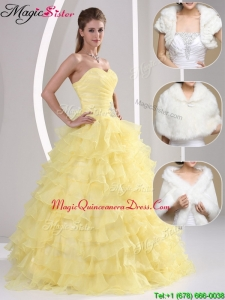Popular Beading and Appliques Sweetheart Classic Quinceanera Dresses