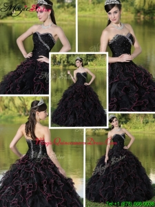 Fashionable Beading Sweetheart Quinceanera Dresses with Ruffles Layered