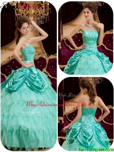 Cheap Ball Gown Strapless Ruffles Magic Miss Quinceanera Dresses for 2016