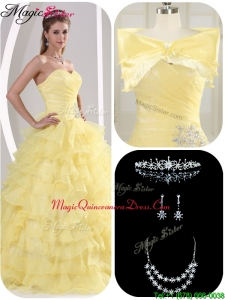 Latest Beading and Appliques Magic Miss Quinceanera Dresses for Fall