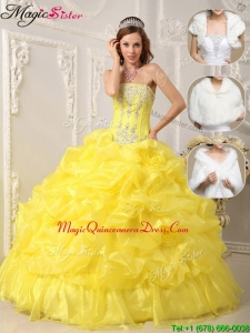 Perfect Strapless Quinceanera Gowns with Beading and Ruffles