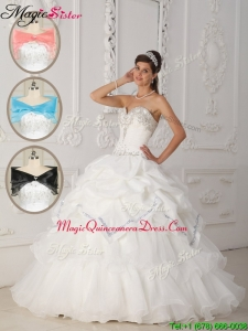 Romantic White Ball Gown Sweetheart Quinceanera Dresses