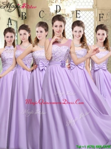 Hot Sale Empire Lavender 2016 Dama Dresses For Quinceanera