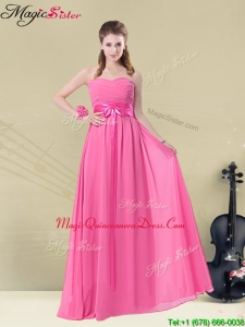 Pretty Sweetheart Dama Dresses For Quinceanera with Ruching and Belt