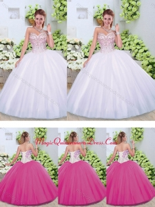 2016 Cute Ball Gown Sweetheart Quinceanera Dresses with Beading