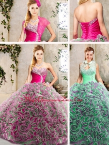 2016 Cute Sweetheart Quinceanera Gowns with Brush Train