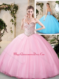 2016 Modern Beading Quinceanera Gowns with Sweetheart
