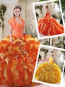 Cute Sweetheart Quinceanera Dresses with Zipper Up