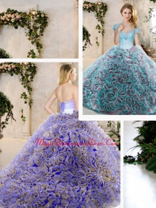 Fashionable Beading and Ruffles Sweet 16 Dresses in Blue