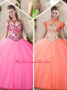 New Style Straps Quinceanera Dresses with Straps for 2016