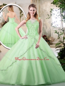 2016 Discount Sweetheart Quinceanera Dresses in Apple Green