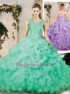 Discount Latest Sweetheart Appliques Quinceanera Dresses with Brush Train