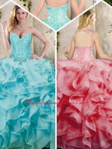 Fashionable Ruffles Quinceanera Dresses with Appliques