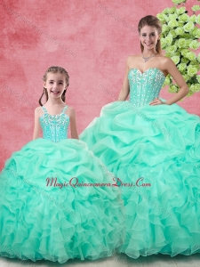 Spring Classical Ball Gown Pick Ups Princesita with Quinceanera Dresses in Apple Green