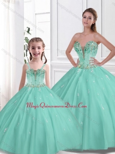 2016 Spring Pretty Ball Gown Beading Princesita with Quinceanera Dresses