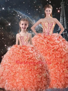 Beautiful Ball Gown Sweetheart Princesita with Quinceanera Dress with Beading
