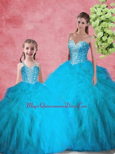 Hot Sale Beading 2016 Princesita with Quinceanera Dresses with in Red