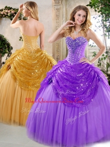 New Style Ball Gown Beading and Paillette Quinceanera Dresses for 2016