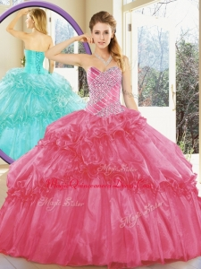 Cheap Ball Gown Couture Quinceanera Dresses with Beading and Ruffled Layers for Spring