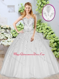 Discount Ball Gown White Couture Quinceanera Dresses with Beading