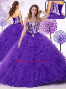 New Arrivals Sweetheart Couture Quinceanera Dresses with Beading and Ruffles
