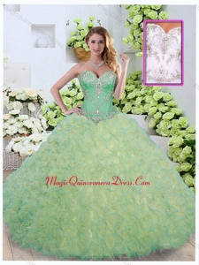Formal Ball Gown Beading and Ruffles Quinceanera Dresses