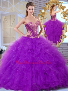 Formal Sweetheart Ruffles and Appliques Quinceanera Dresses