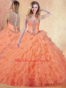 Formal Ball Gown Straps Quinceanera Dresses with Ruffles and Appliques