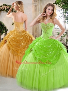 New Arrivals Sweetheart Beading and Paillette Sweet 15 Quinceanera Dresses for Spring