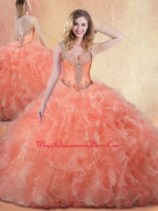 Best Straps Ball Gown Sweet 15 Quinceanera Dresses with Ruffles and Appliques