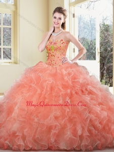 New Arrivals Ball Gown Beading and Ruffles Sweet 15 Quinceanera Dresses