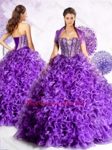 New Style Sweetheart Sweet 15 Quinceanera Dresses with Beading and Ruffles