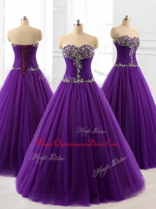 2016 Pretty Custom Made Quinceanera Dresses in Purple