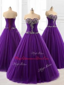 2016 Pretty Custom Made Quinceanera Dresses in Purple