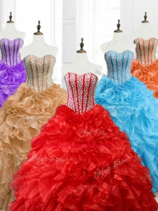 Hot Sale Ball Gown Custom Made Quinceanera Dresses with Beading