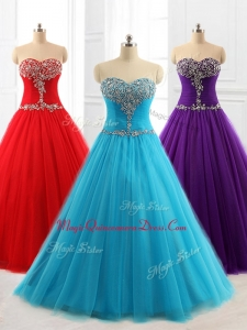Lovely A Line Custom Made Quinceanera Dresses with Beading for 2016